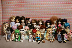 All The Dolls (almost) (Osana Rose) Tags: bjd pullip dal isul taeyang byul doll obitsu meeting cute groove jun planning lunatic alice in wonderland ciel robin ver icarus steampunk eclipse custom pure neemo butler batman natsume romantic dilettante classical queen grell nanachan nana chan suigintou 2014 barasuishou hansel hednar princess minty mio fair silane marie antoinette favorite ribbon misako aoki hatsune miku loa tinkerbell tangkou mad hatter lizbel lir