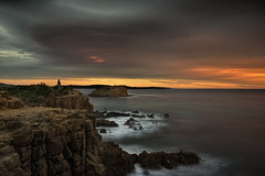 This House Is On Fire (EmeraldImaging) Tags: minnamurra kiama bombo rocks stackisland wollongong shellharbour cliff longexposure le clouds sunrise seascape landsacpe water waves australia australianlandscape nsw