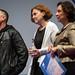 """Janez Burger in Melina Koljević, prejemnika nagrade Vesna za najboljši scenarij pri filmu IVAN, skupaj s Srdjanom Koljevićem in Alešem Čarom. • <a style=""""font-size:0.8em;"""" href=""""http://www.flickr.com/photos/151251060@N05/36440872644/"""" target=""""_blank"""">View on Flickr</a>"""