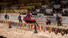 A battle to the finish. (kuntheaprum) Tags: medievaltimes dinnershow horse sword lance joust nikon d750 sigmaart 50mm f14