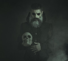 The devil appeared to me in dreams. (jcalveraphotography) Tags: devil vampire dark darkness portrait photo photographer projects people picture selfportrait selfie serie studio smoke bearded male skull bones man makeup black dreams