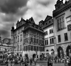 Prague (Baz 3112) Tags: 500px foranyonewhosinterested streamzoofamily hdr hdrcollection hdrgallery hdrphotography hdrphoto street city cityscape building buildings prague people perspective blackandwhite blackwhite