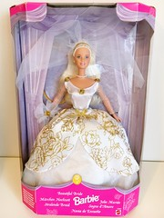 FOR SALE: 1998 Special Edition Beautiful Bride Barbie Doll #22922 (The Barbie Room) Tags: 1998 special edition beautiful bride barbie doll 22922 1990s 90s wedding bridal gown dress white gold rose roses pearls pearl mackie