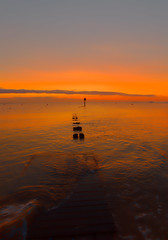 Breakwater heaven (alan.irons) Tags: breakwater dawn cleethorpes orange softened subtle morning northlincolnshire humberestuary humberside eastcoast glow reflectionsofcolour eos5dmkiv ef2470f28llusm canon august2017 beach calm halcyon river sea seascape tones england uk