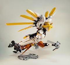 Overwatch - Mercy Guardian Angel (0nuku) Tags: bionicle lego overwatch ow mercy angela zeigler support healer angel caduceus