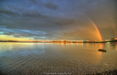 Z01_2259s (savillent) Tags: tuktoyaktuk northwest territories canada harbour water waterscape landscape reflection rainbow skies clouds midnight arctic north climate shoreline tourism travel summer nikon saville home august 2017