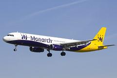 G-OZBN   Monarch Airlines   Airbus A321-231   CN 1153   Built 1999   BCN/LEBL 30/03/2017   ex G-MIDK (Mick Planespotter) Tags: aircraft airport 2017 nik sharpenerpro3 a321 gozbn monarch airlines airbus a321231 1153 1999 bcn lebl 30032017 gmidk