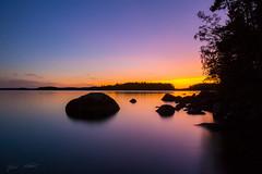 Sunset colors (Jani Mäkelä) Tags: long exposure lake päijänne national park autumn nature canon eos 700d wideangle finland finnish landscape