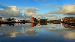 Morning reflections - Explore - thanks! (Jo Evans1 - catching up again!) Tags: prince wales dock reflections still water smq swansea