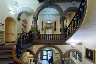 Museum staircase