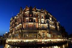 Blue Hotel (Ducodaily) Tags: amsterdam holland netherlands hotel leurope night longexposure nightcrawler bluehour nikon d500 tamron 1024mm city cityscape architecture buildings