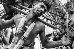 Suffering (Mustafa Selcuk) Tags: 2017 hint lafêtedeganesh paris august fujifilm hindu street streetphotographer streetphotography travel xpro2 blackandwhite bnw bw siyahbeyaz monochromatic monochrome festival religions cultures india