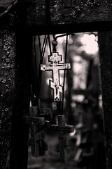 Sanktuarium na Górze Grabarka (wolian1979) Tags: polska poland polonia podlasie blackwhite fede wiara faith bianconero białoczarny cross croce krzyż góragrabarka grabarka grabarkaklasztor