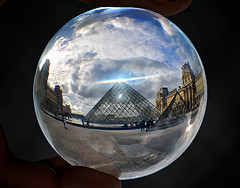 Musee du Louvre (pandafundraise) Tags: museedulouvre paris museum france outside architecture glass ball