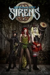 Steampunk Gotham Sirens: Cover of Issue #2: United we stand (SpirosK photography) Tags: steampunk steampunkgothamsirens gothamsirens poisonivy maruchan studio photoshoot victorian portrait strobist nikon d750 athens greece spiroskphotography cosplay costumeplay harleyquinn aileen aileenautumn hammer yourfacehere ailiroy catwoman gotham city urban