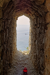 Adriatic Views (Alfred Grupstra) Tags: sea nature coastline outdoors water beach rockobject landscape scenics summer travel cliff nauticalvessel nopeople europe tourism famousplace architecture ulcinj montenegro