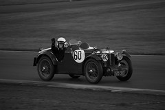 MG Montlhery (Tony Howsham) Tags: canon eos70d sigma 18250 os snetterton norfolk race track racing motor motorsport vintage vehicle classic mg montlhery 1931 blackwhite black and white monochrome