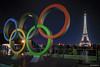 Anneaux olympiques (dblechris) Tags: paris olympique toureffeil nuit parisbynight anneauxolympique ville trocadéro light lumiére canon eos 80d couleurs france jo