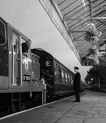 """Dispatching at Dusk"" Class 14 D9551 'Angus' (Liam60009) Tags: eastlancashirerailway elr night dusk blackandwhite monochrome d9551 angus ramsbottom ramsbottomstation railway diesel dieselgala eastlancashirerailwaydieselgala eastlancsrailwaydieselgala class14 teddybear bear d9531 ernest dispatching"