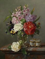 Spring Flowers in a Vase (Animus Mirabilis) Tags: french painting art marialoustau 19thcentury stilllife spring flower vase glass box