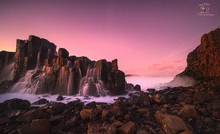 Warm Sunset over Bombo Quarry ,