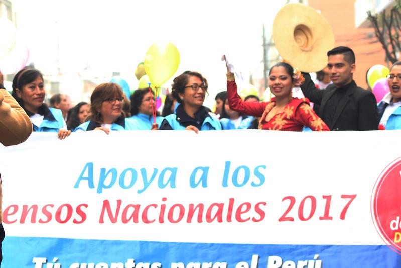 Pasacalle y festival por los Censos Nacionales 2017
