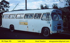 Mt Piper - Late 80s (alcogoodwin) Tags: freighter bedford bus transfield wallerawang mt piper power station employeestransportomnibus roadwestnswaustralia transport transportation road construction workers