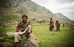 KASHMIRI SHEPHERD (Dan ODonnell) Tags: shepherd kashmir india himalayas himalaya adventure hike danodonnell rock horse father son mountains indigenous landscape