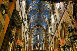 St. Mary's Basilica (Bazylika Mariacka), Krakow, Poland