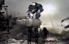 Night Lord (Faber Mandragore) Tags: wip lego moc sci fi mecha warhammer 40k spacemarine night lord terminator death claws space hulk