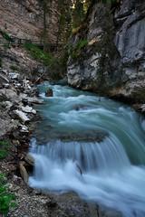 Johnston Canyon Waterfalls (Adam Wang) Tags: park landscape nature waterfall falls stream rapids banff cascades mountain multnomah waterflow water flow golling