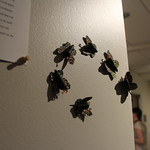 Paper butterflies used in a student's fine art capstone.
