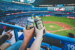 Cheers to the Blue Jays (A Great Capture) Tags: oakheart corona beer cheer cheers can cans feild diamond baseball people stadium flags hand hands agreatcapture agc wwwagreatcapturecom adjm ash2276 ashleylduffus ald mobilejay jamesmitchell toronto on ontario canada canadian photographer northamerica torontoexplore summer summertime été 2017 colours colors colourful colorful cityscape urbanscape eos digital dslr lens canon 70d scenery scenic outdoor outdoors vibrant cheerful vivid bright streetphotography streetscape street calle depthoffield dof blur skydome rogerscentre