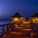 Moonset at Naples Pier thumbnail