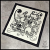 "Zentangle : haKrall & Mooka : ""Invasion"" (ha! designs) Tags: hadesigns hadesignszentangle zentangle tile art hakrall mooka blackandwhite penandink"