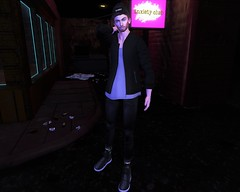 Night Life (EnviouSLAY) Tags: anxiety beusame beusy etham versov valekoer vale koer alleyway alleyscene alley scene secondlifefashion secondlifephotography beanie bomberjacker bomber jacket black socks jeans shoes hathair hat hair newreleases new releases catwa bento belleza mom mensonlymonthly mens only monthly kustom9 kustom 9 k9 gacha rare collab monthlymens monthlyevent monthlyfair monthlyfashion mensmonthly mensfashion mensfair event fair pale male gay blogger secondlife second life fashion photography dark