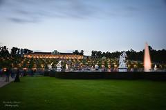 Potsdam | Schloß Sanssouci Blue Hour (Nicholas Olesen Photography) Tags: potsdam germany schloss sanssouci garden blue hour outdoors sunset horizontal grass fountain lights evening dusk nikon d7100