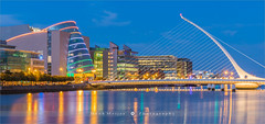 Samuel Beckett Bridge - Dublin - Ireland (~ Floydian ~ ) Tags: henkmeijer photography floydian ireland irish dublin samuelbecketbridge riverliffey calatrava architecture bluehour sunset evening dusk twilight scenery cityscape canon canon5dmarkiv