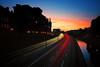Twilight on Centralbron (Dan Haug) Tags: twilight centralbron stockholm sweden longexposure traffic dusk august cloudless sky silhouette skyline fujifilm xt2 xf1655 xf1655mmf28rlmwr