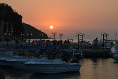 Romantic Dinner (Kotsikonas Elias) Tags: dinner sunset sun water restaurant romance romantic greece boat