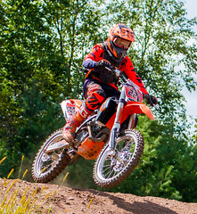 KTM Off The Jump (John Kocijanski) Tags: motocross motorcycle dirtbike race ktm people sport vehicle mx canon70300mmllens canon7d