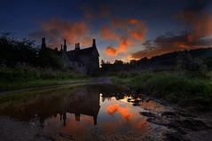 """ THE MANOR HOUSE \"" (Wiffsmiff23) Tags: reflections reflection puddle southwales manorhouse farm sunrise dramatic drama epic hike"