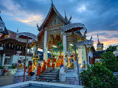 Just done praying...and go back to their rooms (Kompakin Borwornpakramil) Tags: fujifilm gfx50s gf3264mmf4rlmwr monks people chiangmai thailand temple availablelight moodandatmosphere mediumformat totallythailand travelphotography streetphotography asia