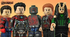 He's coming to us, so that's what we'll use. (Brick Builder Watts) Tags: lego avengers infinity war iron man spider star lord drax mantis peter quill parker tony stark custom painted minifigures