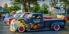 1953 Chevy pickup (kenmojr) Tags: aw cruise cruisein carshow car auto automobile woodside novascotia canada vehicle transportation classic vintage antique summer dartmouth kenmo kenrmorrisjr 2017 1953 chevy chevrolet truck pickup flames flamed custom kustom customized kustomized