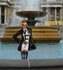 Trafalgar Square 4 (SoakinJo) Tags: wet wetlook wetclothes soaked soakinjo drenched wetdress wetclothing heels highheels fountain trafalgarsquare wetfur wetboots thighboots platformballetheels balletheels london