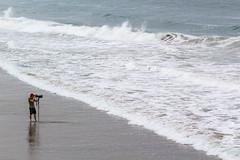 Lone Photographer (Robert Borden) Tags: shore tide waves water ocean sand surf photographer alone man huntingtonbeach california westcoast socal canonphotos canon canonrebel canonphotographer losangeles la cali