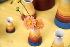 Rainbow rings (petrOlly) Tags: europe europa germany deutschland toepfermarkt pottery rheydt schlossrheydt schloss moenchengladbach handmade object objects flower flowers decoration