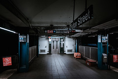 2815 (Panda1339) Tags: 28mm usa summiluxq manhattan gritty nyc newyorkcity fultonstreet subwaystation leicaq dystopian whoturnedoutthelights