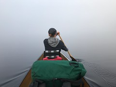 Into the mist (briandjan607) Tags: paddleinfog foggylake foggymorning intothemist zerovisibility back water lake trip pack solitude limitedvisibility novisibility lowvisibility alone peaceful clouds nature outdoors whiteout misty unknown adventure minnesota white still bwca dawn surreal vacation voyage tranquil calm serene lacroix boulderbay boundarywaters eerie shrouded densefog dense fog morningmist mist morning woman wife paddling paddle canoeing canoe